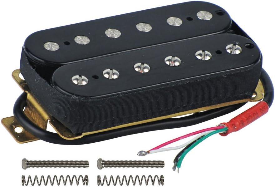 White FLEOR Alnico 5 Humbucker Guitar Pickups High Output Bridge Pickup