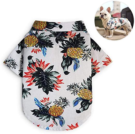 AUOKER Camisa Hawaiana para Perros, Transpirable y cómoda ...