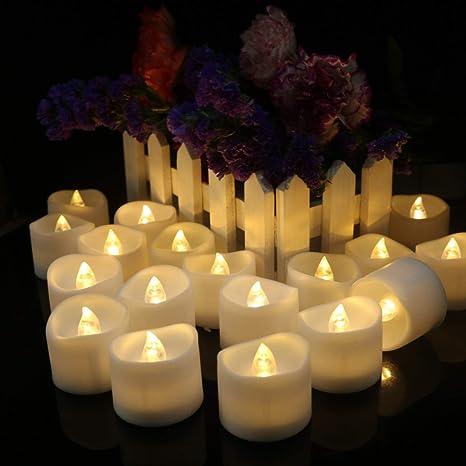 Set de 24 velas LED con temporizador flackernde batería ...