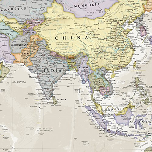 Maps International - Giant World Map Mural - Mega-Map Of The ... on giant laminated world maps, giant tile murals, elephant wall mural, galaxy wall mural, world wall mural, enchanted forest wall mural, giant wall murals, peter pan wall mural,