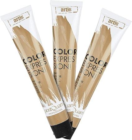 PostQuam - Mascarilla Color Expression, Tinte temporal de pelo- Color Arena - Pack de 3 unidades - 60 gr: Amazon.es: Belleza