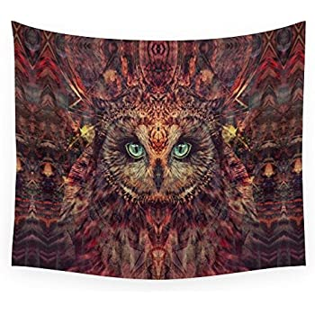 "Society6 Mystic Owl Wall Tapestry Small: 51"" x 60"""