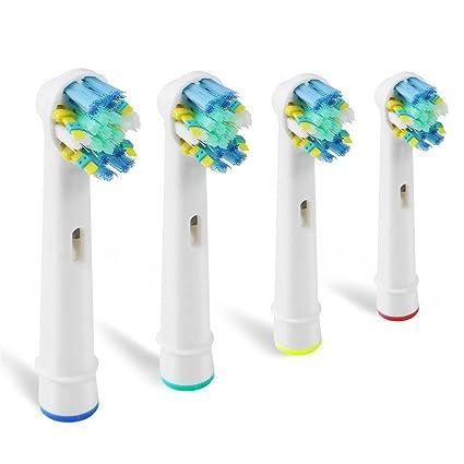 4 cabezales EB-25A para cepillos eléctricos de dientes de repuesto para modelos Oral-