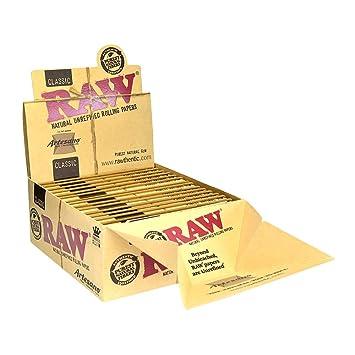 Amazon com: RAW Organic Natural Unrefined Hemp Rolling