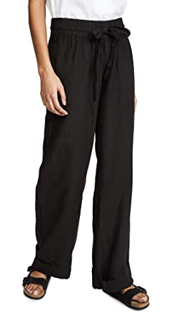 562c973c16 Amazon.com  Three Dots Women s Cuffed Linen Beach Pants  Clothing