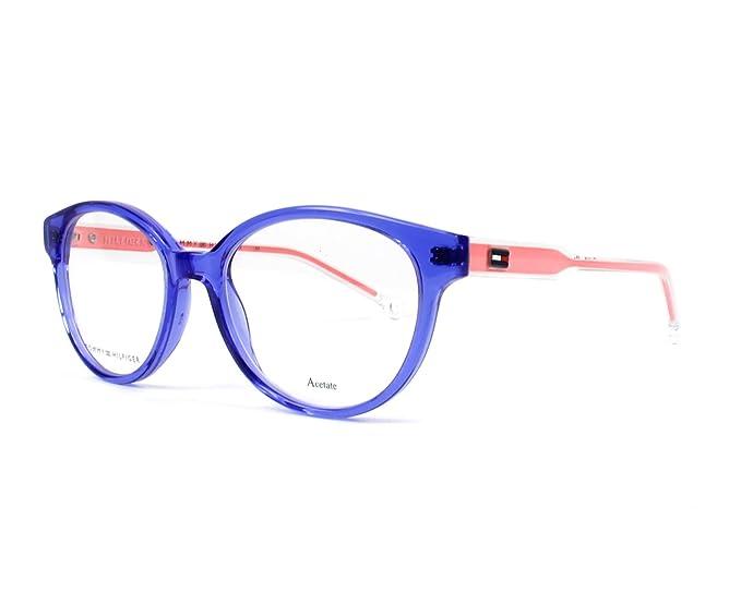 c82aa745075 Image Unavailable. Image not available for. Colour  Tommy Hilfiger Women s  Prescription Eyewear Frame Blue Bleu Transparent - Cristal Transparent 14