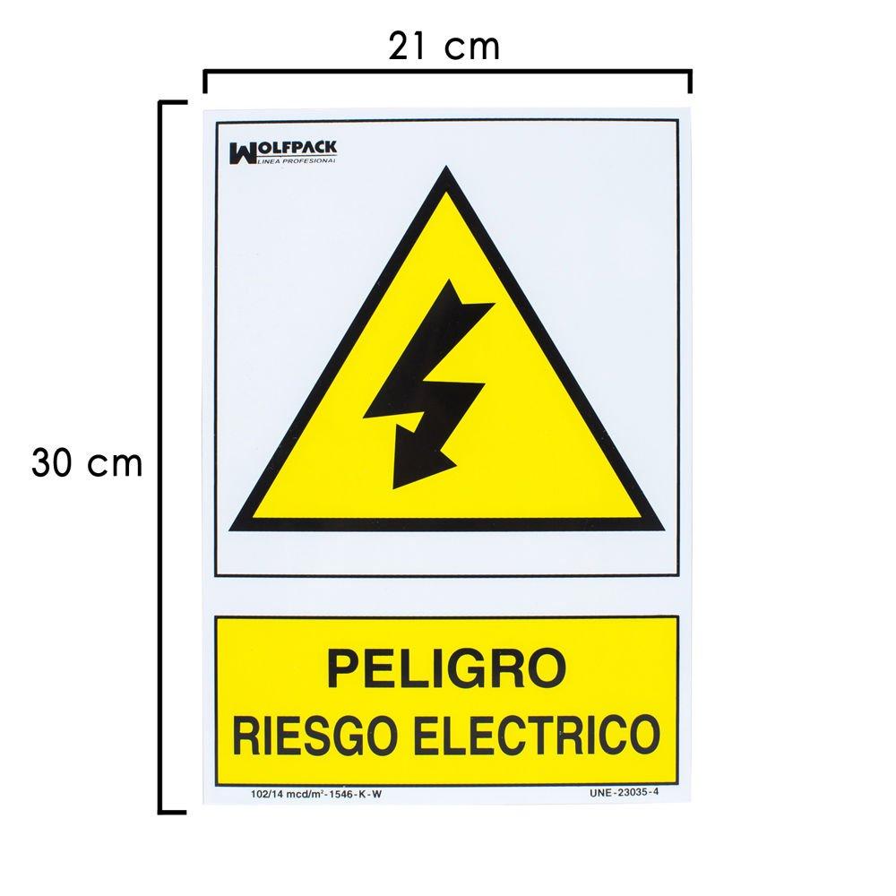 WOLFPACK 15050515 - Cartel Peligro Electrico 30x21 cm