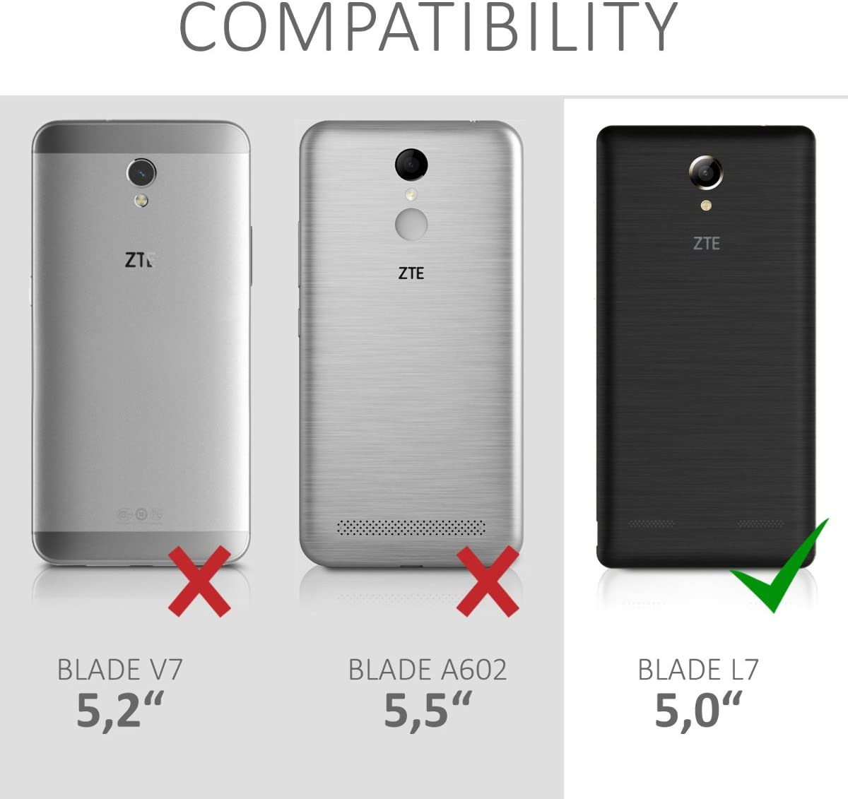 kwmobile Funda Compatible con ZTE Blade L7: Amazon.es: Electrónica