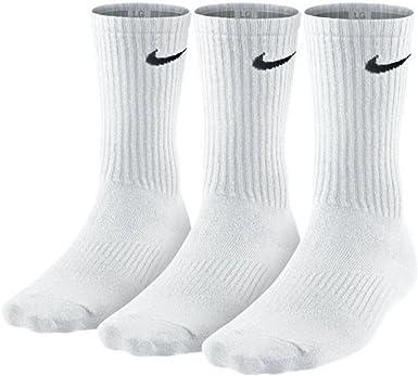 tinción tabaco pellizco  Amazon.com: Nike - Calcetines de algodón para hombre, 3 unidades, color  blanco, talla grande: Clothing