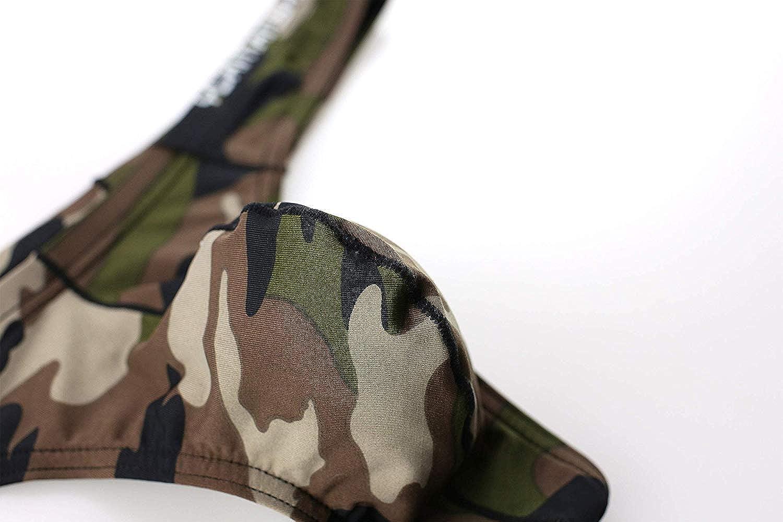 CSMARTE Camouflage Uomo Tanga Mutande Perizomi Slip Morbidi Intimo