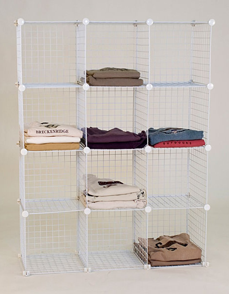 Unknown DB-04122 Mini Grid Shelf Unit Grid Wall Panel Shelves Retail Display Fixture White New
