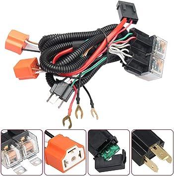 toyota pickup wiring harness amazon com headlight harness h4 9003 headlight relay harness 7x6 1980 toyota pickup wiring harness h4 9003 headlight relay harness 7x6