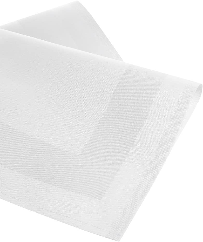 Lot de 6/en Blanc Sirkeci M35100500505160/Serviettes Armure 50/x 50/cm