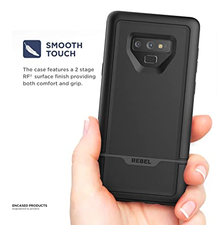 Amazon.com  Encased Rebel Case for Galaxy Note 9 Case with Belt Clip  Holster 582d625a56
