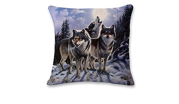 Xuanku Alquiler De Almohada _3D Animal Print Sofá Cojín Almohada,2,45Cm 45 *: Amazon.es: Hogar