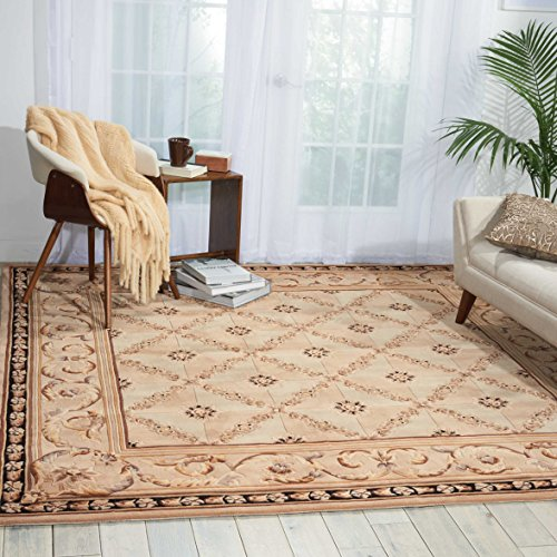 Nourison Versailles Palace (VP06) Beige Rectangle Area Rug, 5-Feet 3-Inches by 8-Feet 3-Inches (5'3