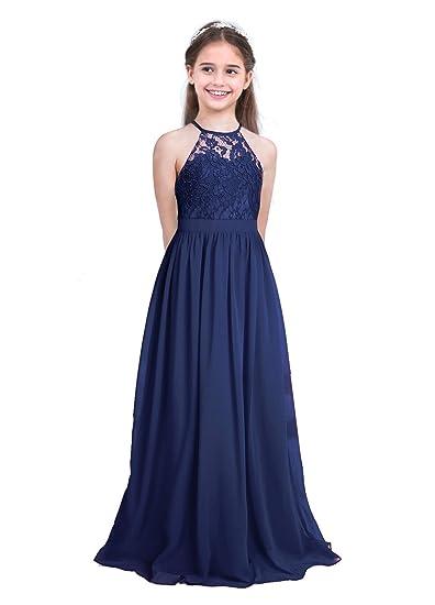 Freebily Vestido Elegante de Princesa Floreado para Niña (4-14 ...