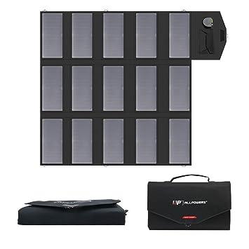 ALLPOWERS Cargador Solar Portátil del Panel 100W 18V 12V Plegable USB Y Un Cargador De Batería