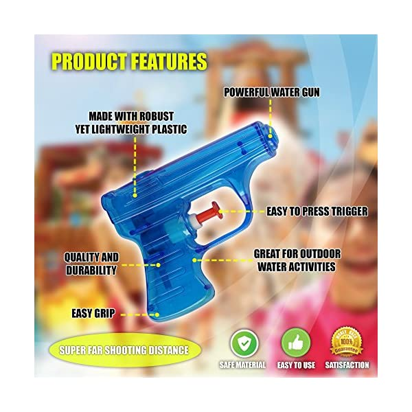 THE TWIDDLERS 20 Pistole ad Acqua in 4 Colori Assortiti | Ideali Come regalini per Le Feste di Bambini o da Portare a… 3 spesavip