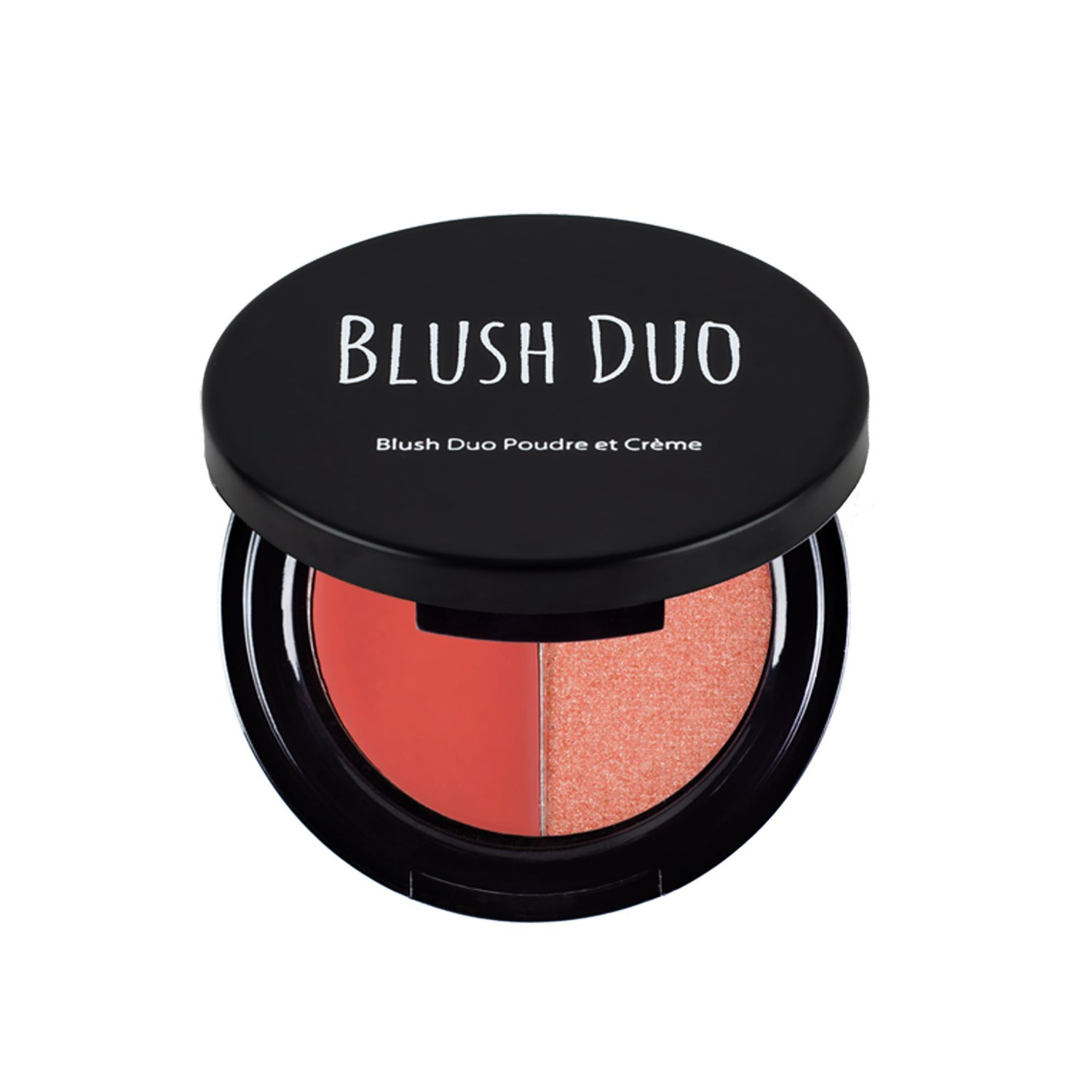 The Beauty Crop - Blush Duo - Papaya Don't Preach | Cream and Pressed Powder | Nourished with Kale, Aronia Berry, Pomegranate and Papaya | Cosmetics Pink Highlighter | Cream Blush Duo | Cruelty-Free