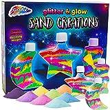 Grafix 28-0114 Children's Sand Art Glitter Glow Bottle Make Your Own Colourful Activity, Multi