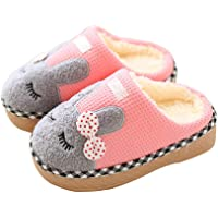 Maybolury Boys Girls Home Slippers,Kids Cute Fur Lined Warm House Slippers Winter Indoor Shoes