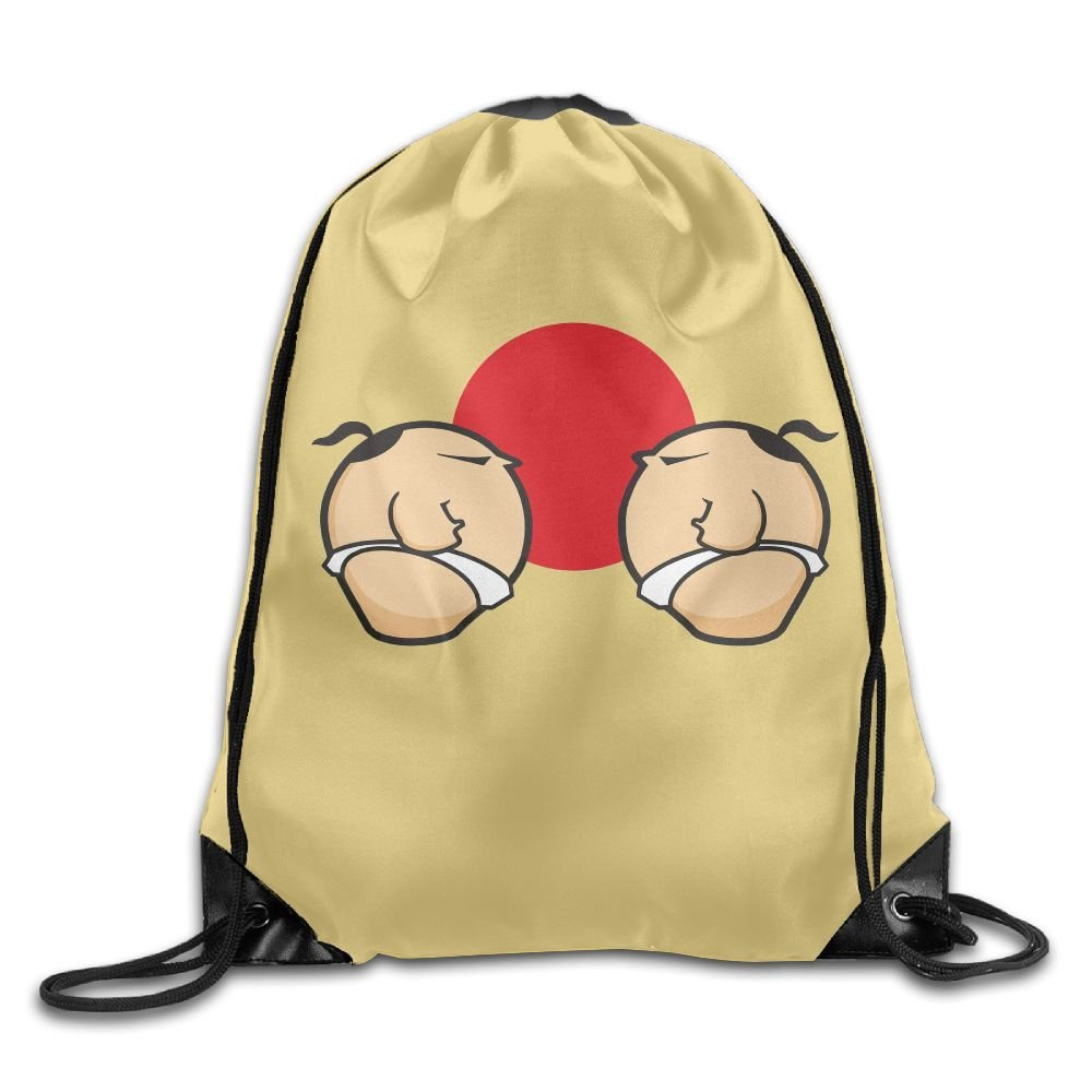 Sumo Wrestling Match Folding Sport Backpack Drawstring Bag Customize Fashion by Q56LZXXDN