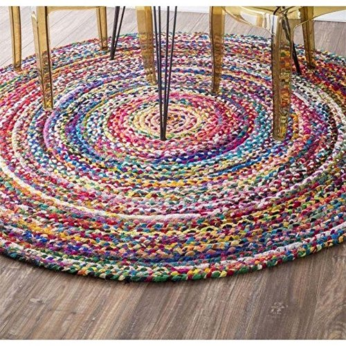 8foot Round Braided Rug Amazon Com