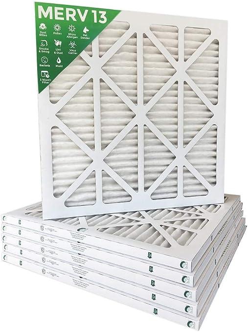 MPR 2200 Pleated AC Furnace Air Filters 10x20x1 MERV 13 Box of 6