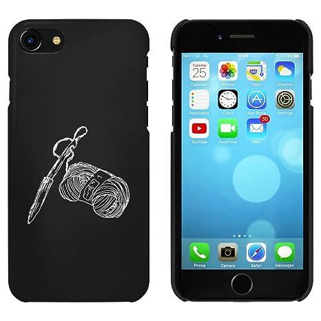Negro Aguja de Tejer y Lana Funda / Carcasa para iPhone 7 ...