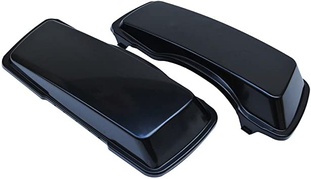 ZXMOTO Unpainted Aftermarket ABS Hard Saddlebags Bag Lids Covers Fit For 1994-2012 Touring FLH FLHT Road King Ultra Classic Street Glide 94-12