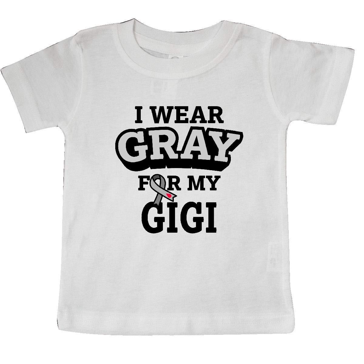 inktastic I Wear Gray for My Gigi Diabetes Awareness Baby T-Shirt