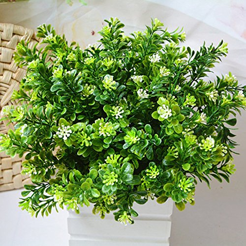 dezirZJjx Artificial Plants Fake Leaf Foliage Indoor Outdoor Artificial Plant Office Garden Decor Tool