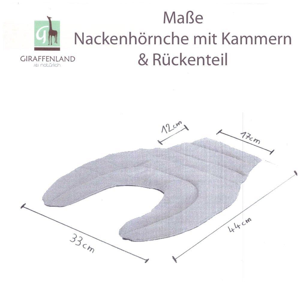 Nackenkissen R/ücken W/ärmekissen Leinsamenkissen gr/ün-wei/ß Nackenh/örnchen mit R/ückenteil