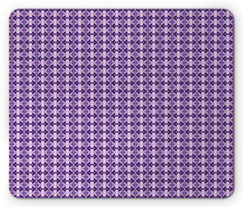 - Ambesonne Lattice Mouse Pad, Traditional Symmetrical Tile Pattern in Square Layout, Standard Size Rectangle Non-Slip Rubber Mousepad, Lavender Violet and Dark Violet