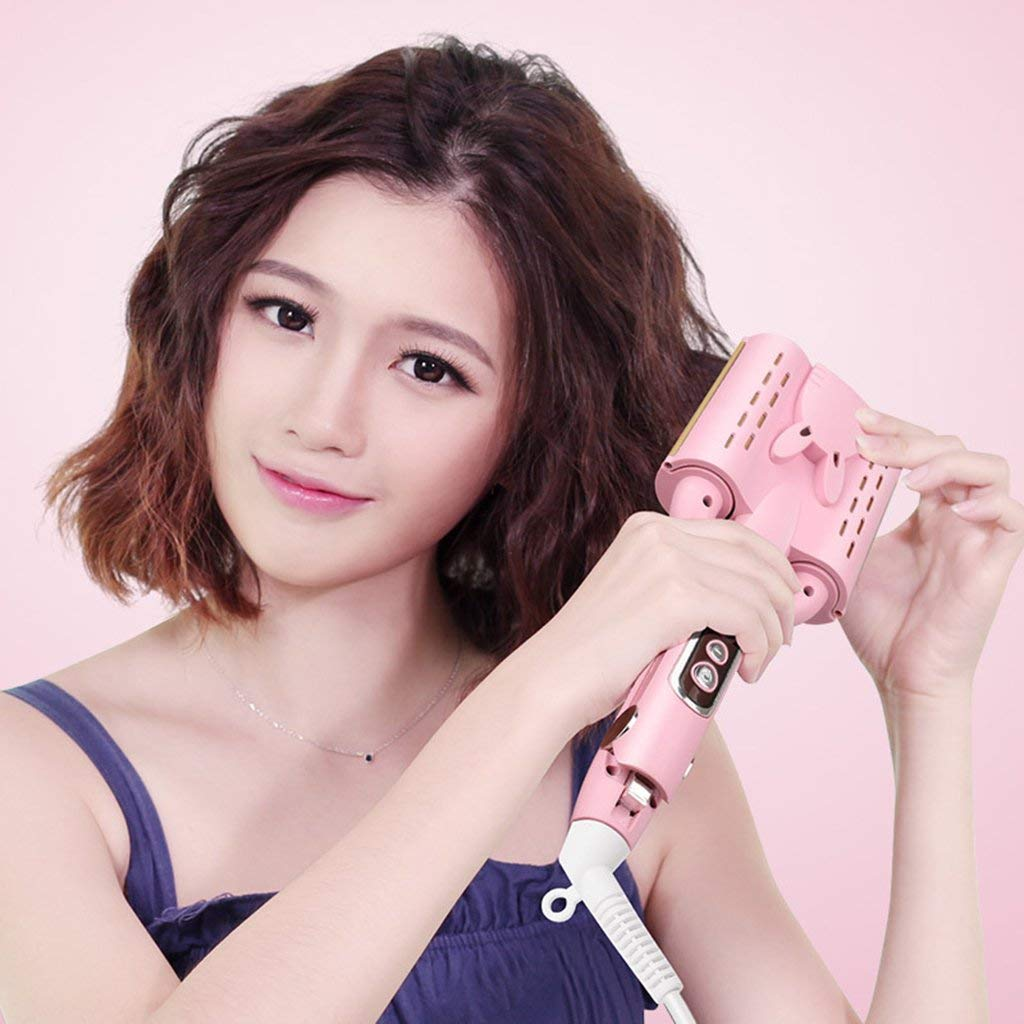 Magic Automatic Hair Curler LCD Egg Roll Head Curling Rod Water Ripple Cake Wave Curler Does Not Hurt Hair Roll Three Sticks Egg Roll Stick,32MM by yahogo (Image #3)