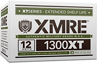 product image for XMRE 1300XT-Extended Shelf Life Military Grade-MREs-Fully Cooked-No Refrigeration-Perfect for Military, Law Enforcement, Disaster Preparedness & Outdoor Enthusiasts-12 Meals/12 Menus Per Case-USA Made