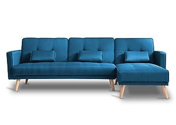 Bestmobilier - SCANDINAVE - Canapé d\'angle réversible Convertible ...