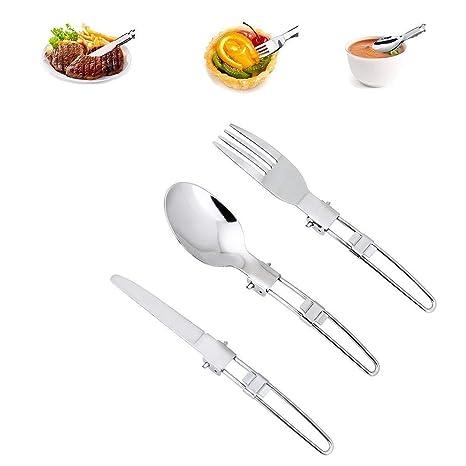 Amazon.com: Unigift 3 piezas de acero inoxidable utensilios ...