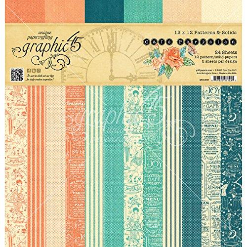 12x12 Recipe Scrapbook Paper (Graphic 45 4501435 Cafe Parisian 12 x 12