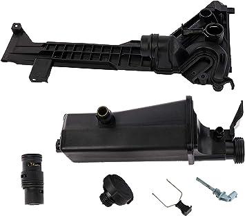 Cap Sensor KARPAL Radiator Coolant Recovery Expansion Overflow Tank Reservoir Clip 17117573781 Compatible with E46 E83 E53 323i X3 X5 323Ci