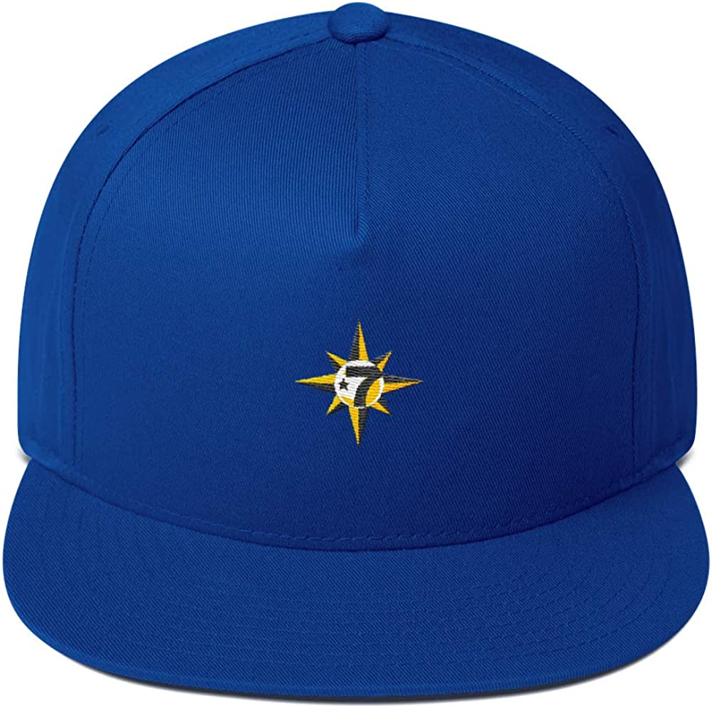 in The Name of Allah 7 Logo Crescent Star 5 Percent Flat Bill Cap Snapback Hat Royal Blue