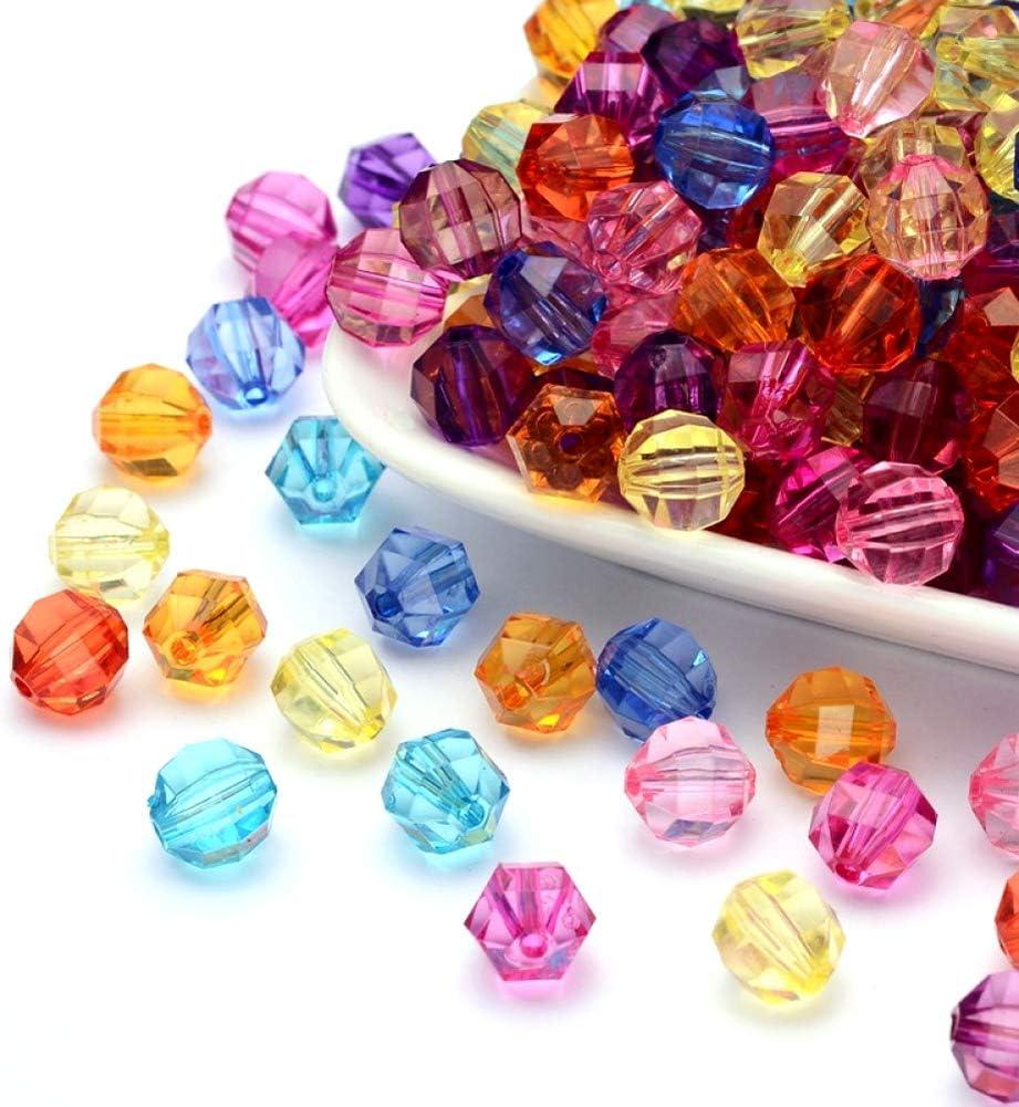100pcs Two Tone Clear Spray Painted Acrylic Bead Triangular Prism Fuchsia Loose