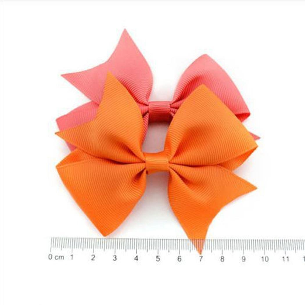 20Pcs 3inch Baby Hair Bows For Girls Grosgrain Boutique bow Clips For Teens Toddlers Kids Children infants