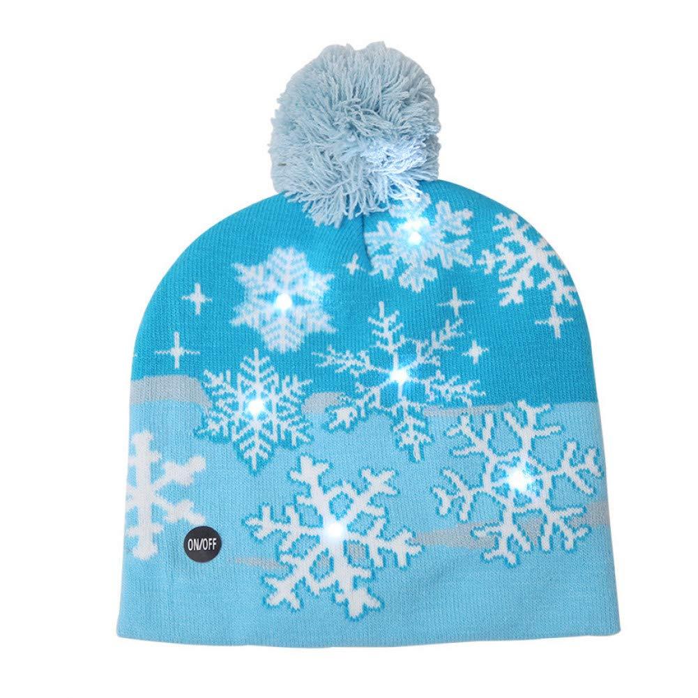 MAOZIJIE Led Christmas Beanie Ugly Christmas Sweater Weihnachtsm/ütze Christmas Tree Light Up Strickm/ütze F/ür Kinder Erwachsene Weihnachtsfeier