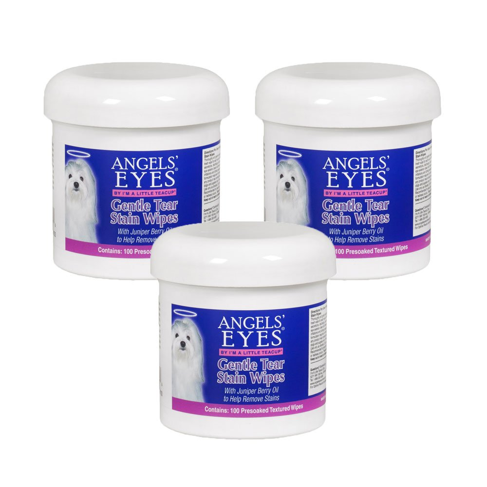 Angel's Eyes 100 Count Gentle Tear Stain Wipes (3 Pack)