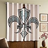 Custom design curtains/Vintage Lace Window Curtain/Grommet Top Blackout Curtains/Thermal Insulated Curtain For Bedroom And Kitchen-Set of 2 Panels(ily Retro Renaissance Spirit Element Victory Holy)