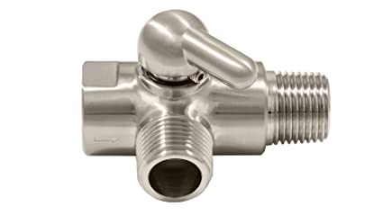 Brushed Nickel Dual Showerhead Diverter Valve Solid Brass
