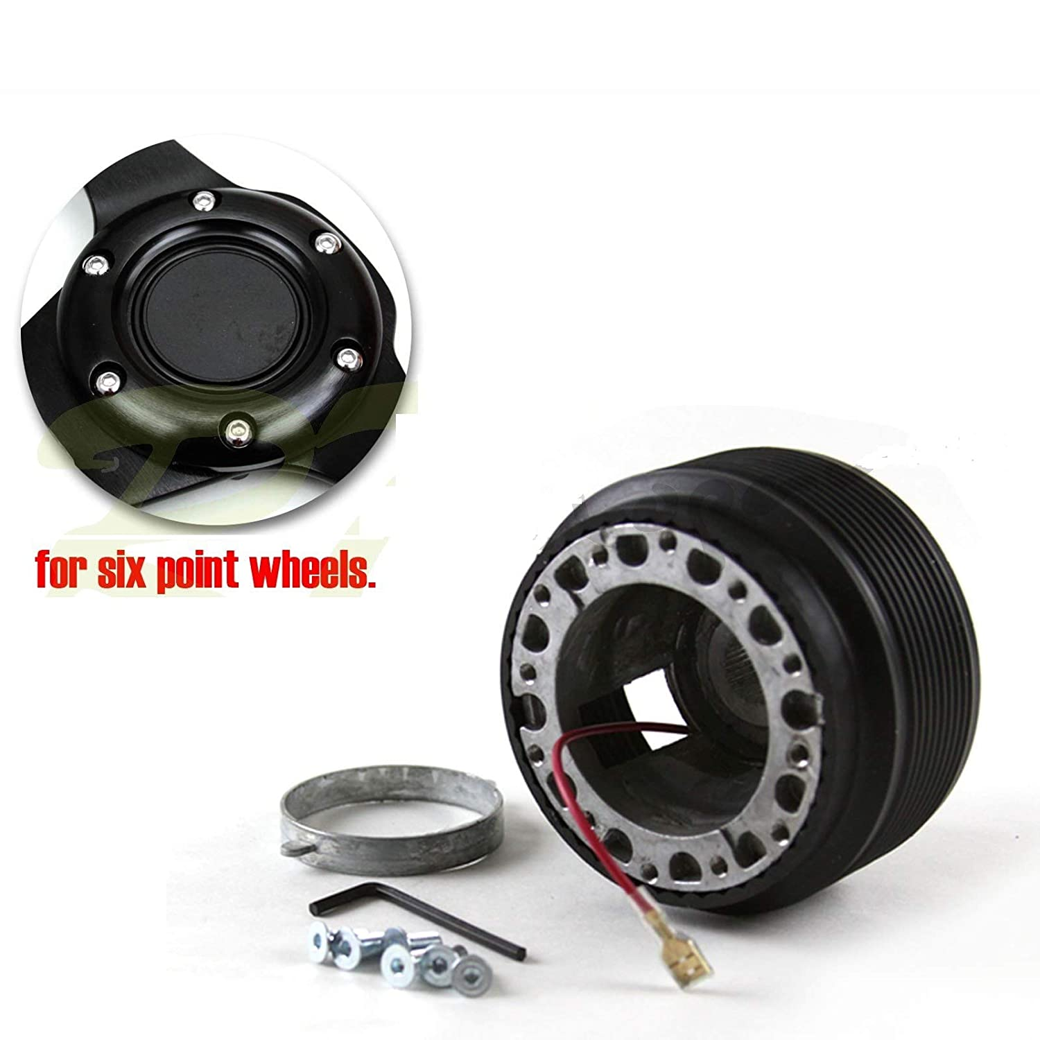 Innovativeparts for 87-95 Toyota Pickup and More 6-Bolt JDM Aftermarket Steering Wheel Hub Boss Adapter Kit
