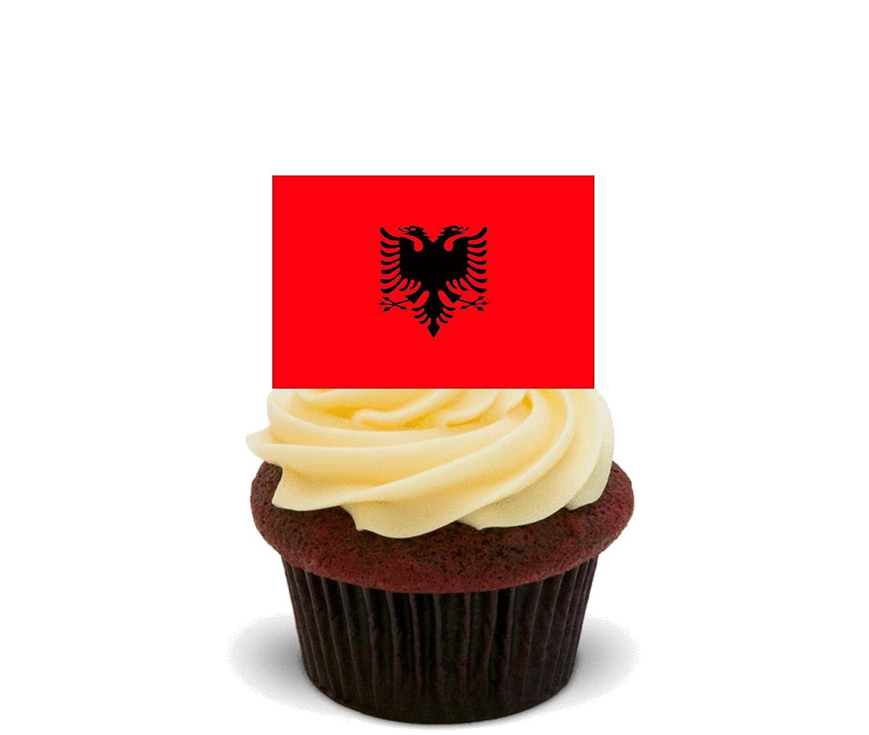 Bandera de Albania comestible cupcake toppers - Pie oblea ...